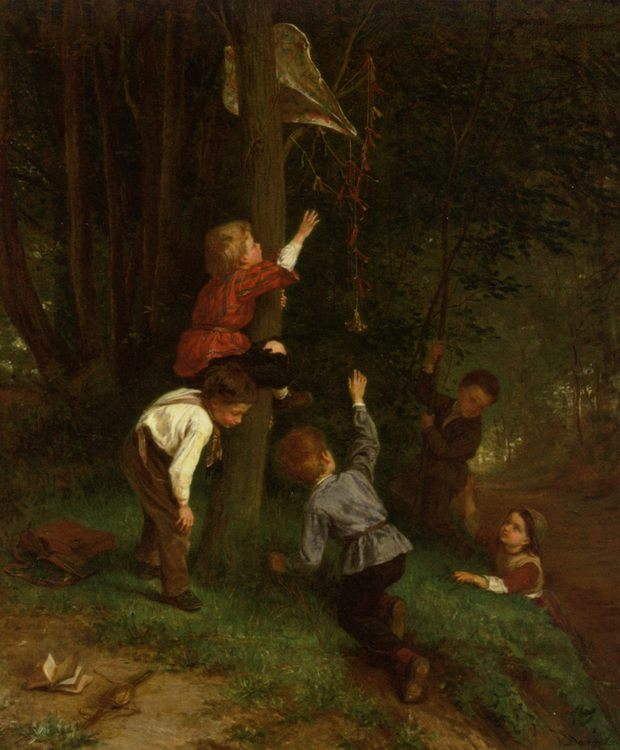 Out Of Reach :: Andre Henri Dargelas - Children's portrait in art and painting ôîòî