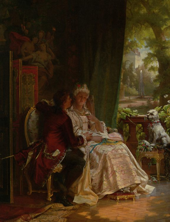 Romance :: Carl Herpfer - Romantic scenes in art and painting фото
