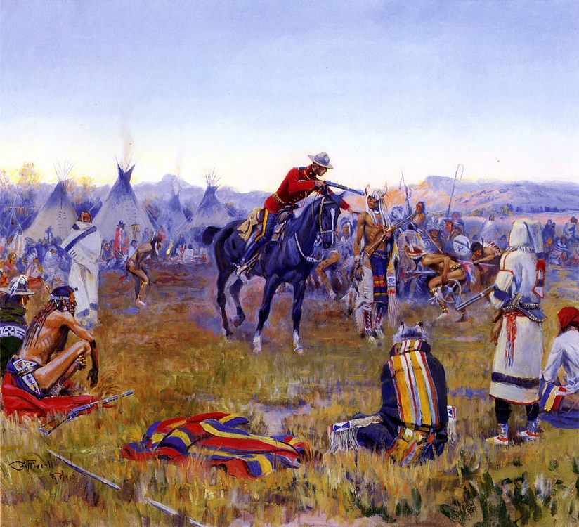 Single Handed :: Charles Marion Russell - History painting фото