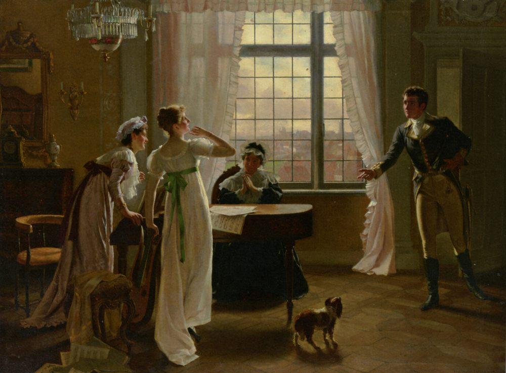 Interruption :: Max Volkhart  - Romantic scenes in art and painting ôîòî