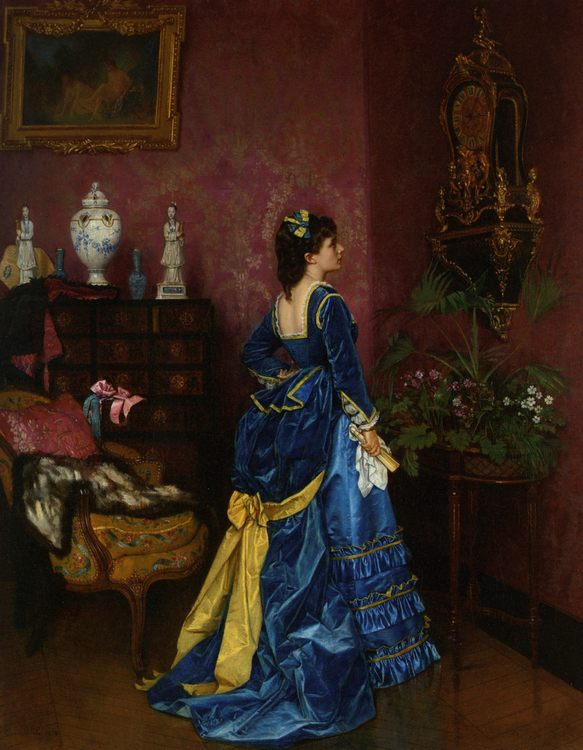 The Blue Dress :: Auguste Toulmouche - Balls and receptions фото