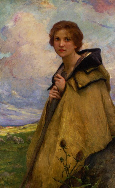 The beggar :: Charles Amable Lenoir  - Young beauties portraits in art and painting фото