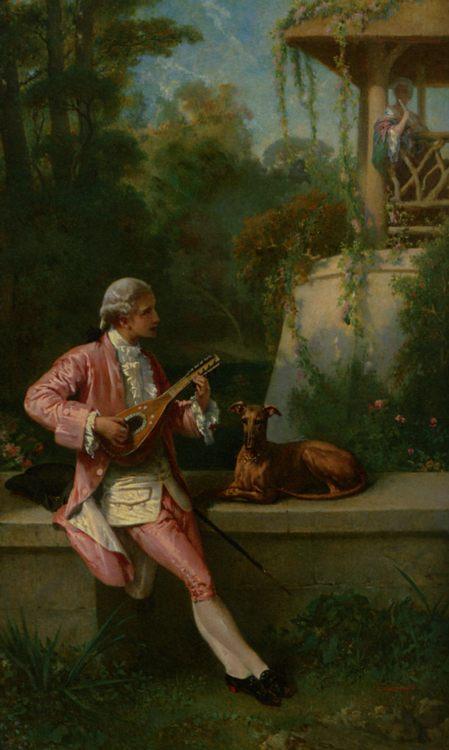 The Courtship :: Felix Henry Giacomotti - Picnic фото