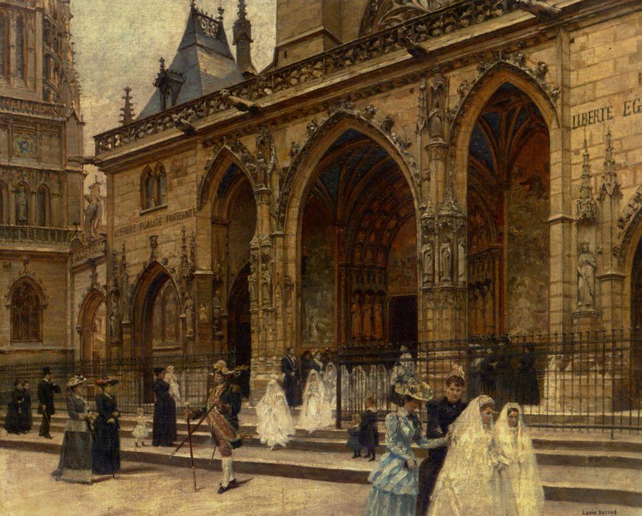 First Communion :: Louis Beroud - Street and market genre scenes фото