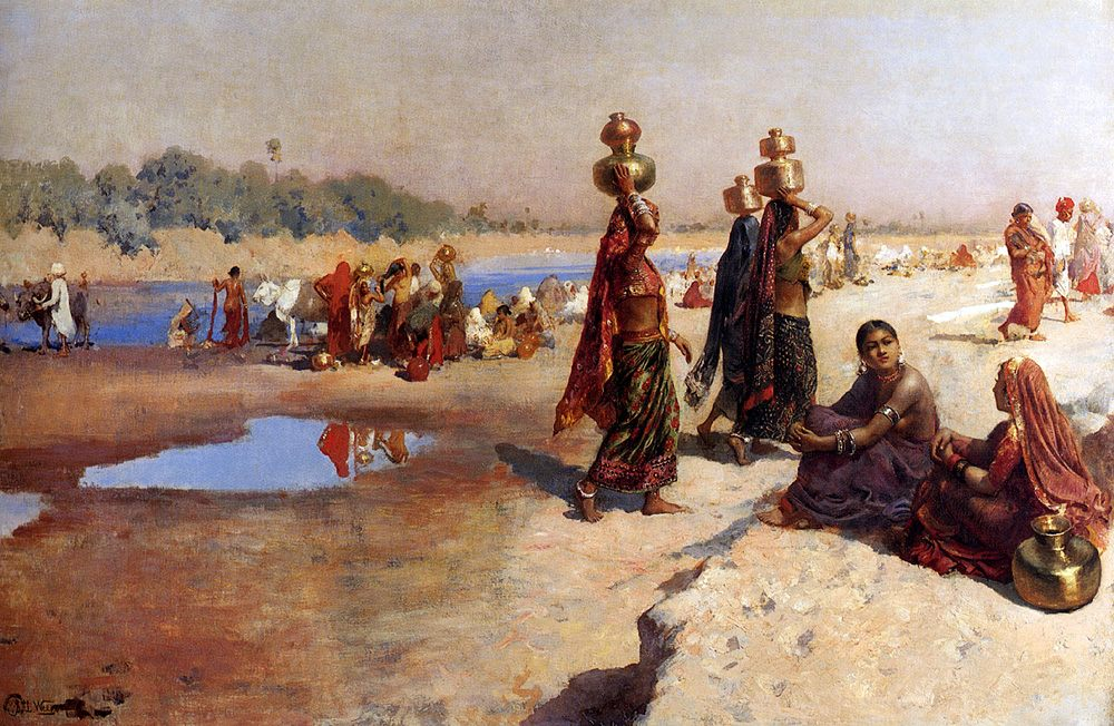 Water Carriers Of The Ganges :: Edwin Lord Weeks - scenes of Oriental life ( Orientalism) in art and painting фото