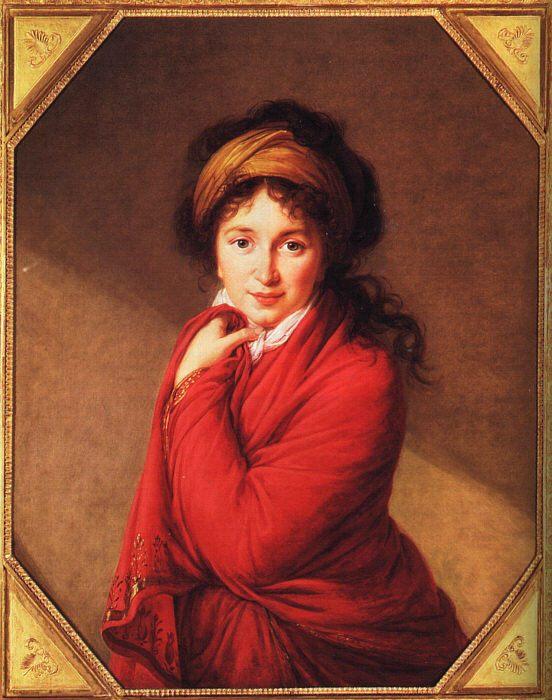 Portrait of Countess Golovine :: Elisabeth Louise Vigee-Le Brun - 4 women's portraits 18th century hall фото