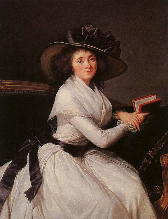 Countess Chatre :: Elisabeth Louise Vigee-Le Brun - 4 women's portraits 18th century hall фото