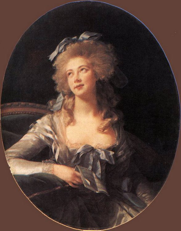 Portrait of Madame Grand :: Elisabeth Louise Vigee-Le Brun - 4 women's portraits 18th century hall фото