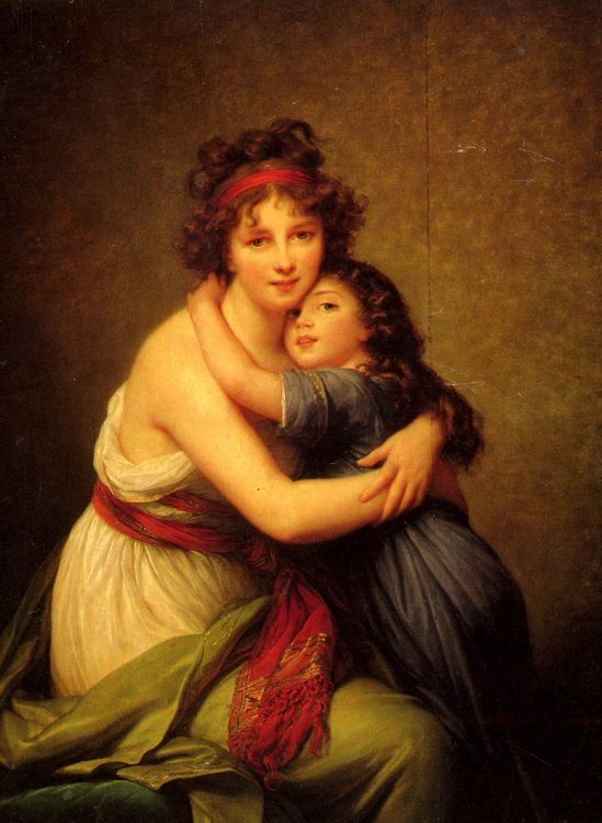 Madame Vigee-Le Brun and her daughter :: Elisabeth Louise Vigee-Le Brun - Woman and child in painting and art фото