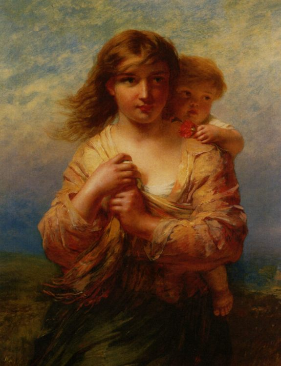 Mother and Child :: James John Hill  - Woman and child in painting and art фото