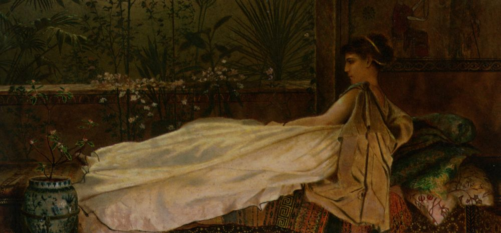 Luxury :: John Atkinson Grimshaw - Antique beauties in art and painting фото