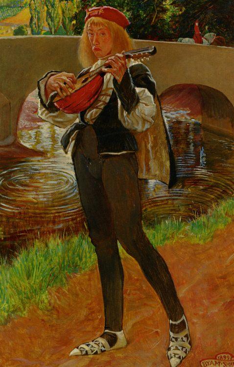 The Bard :: John Byam Liston Shaw - mythology and poetry фото