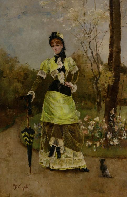Its Majesty the Parisian :: Alfred Stevens - 7 female portraits ( the end of 19 centuries ) in art and painting фото
