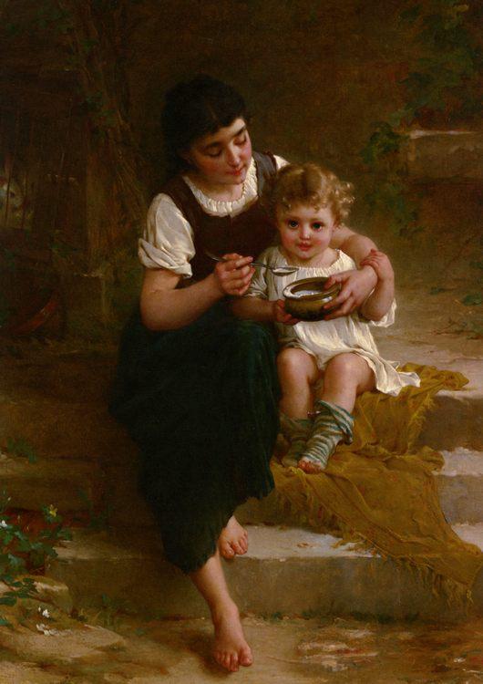 Tender Moment :: Emile Munier - Babies portraits  ôîòî