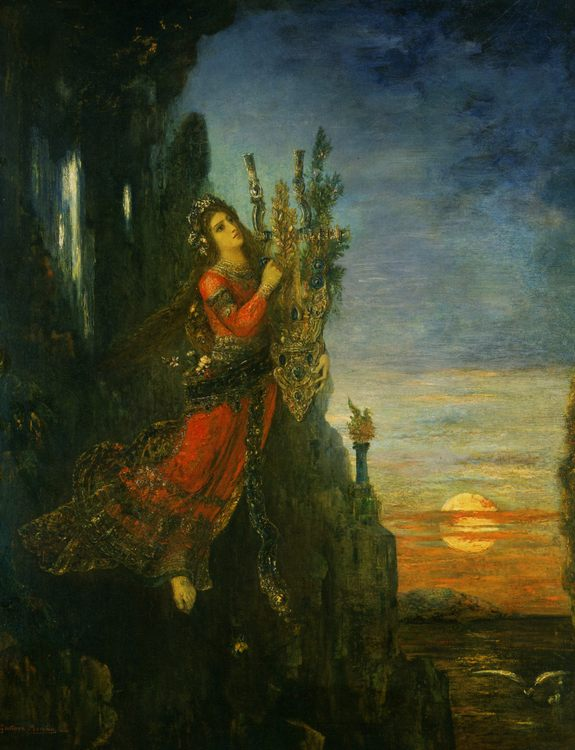 Sappho :: Gustave Moreau - mythology and poetry фото