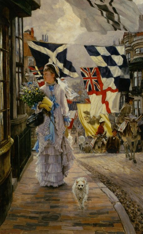 Fete Day at Brighton :: James Jacques Joseph Tissot - Street and market genre scenes фото