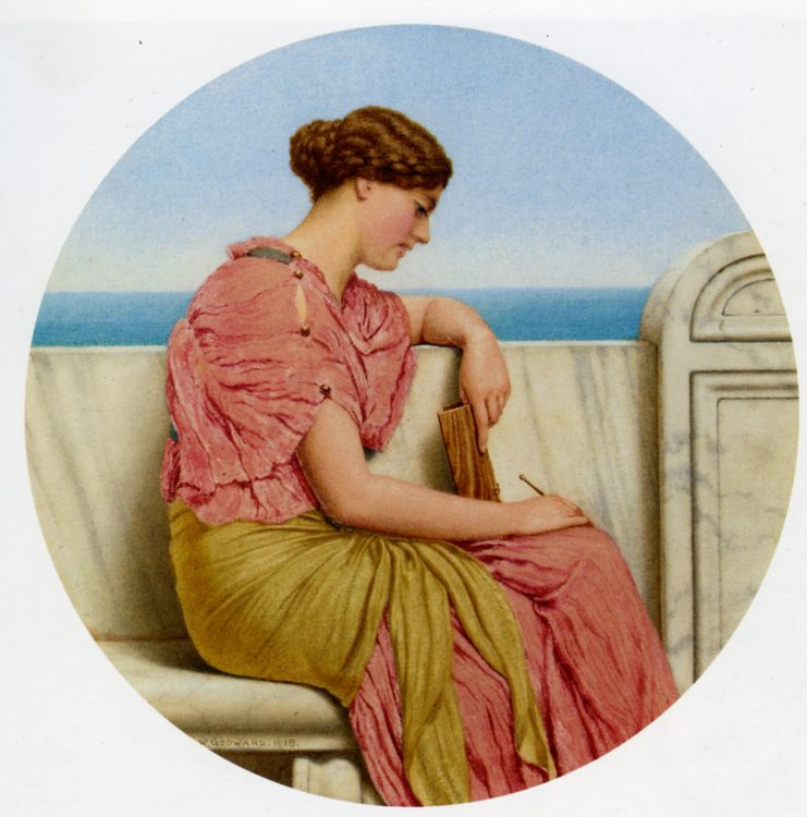 Distant Thoughts :: John William Godward  - Antique beauties in art and painting фото