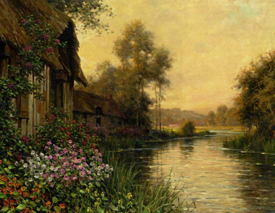 A Summer Evening Beaumont :: Louis Aston Knight - Summer landscapes and gardens ôîòî