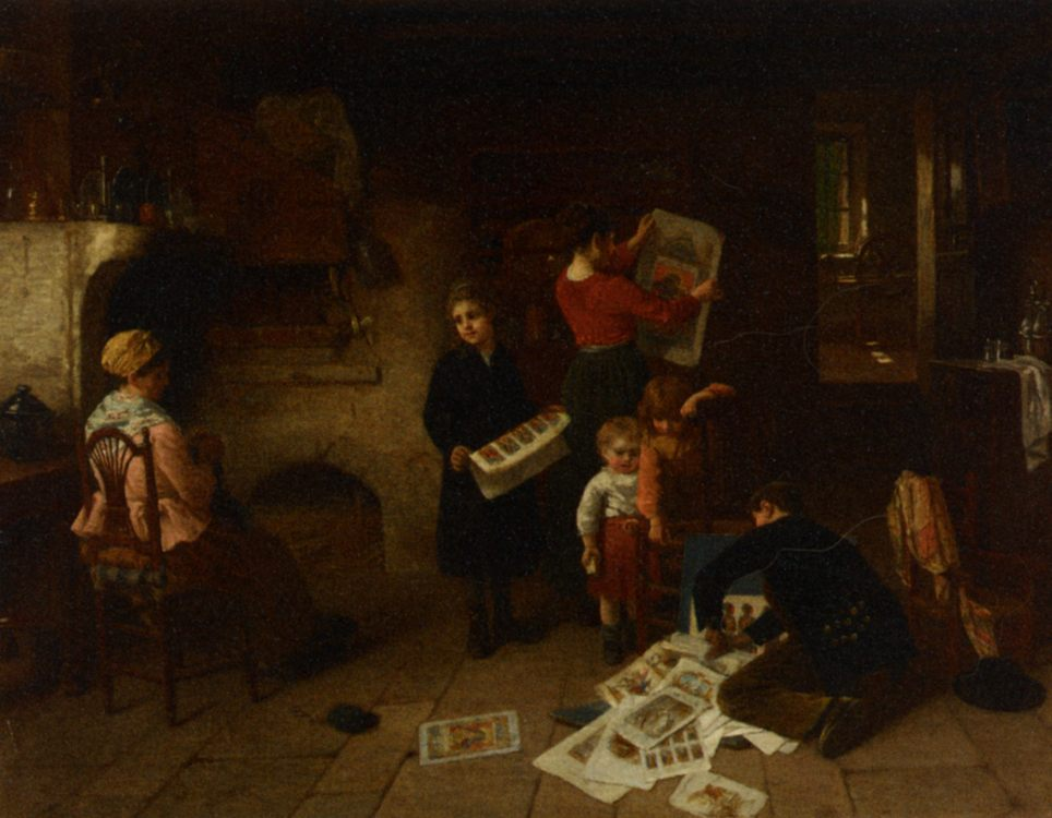 The Print Seller :: Paul Seignac - Interiors in art and painting ôîòî