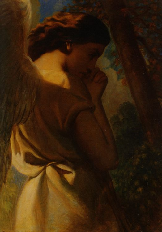 The Angel :: Theodore Chasseriau - Angels in art and painting фото