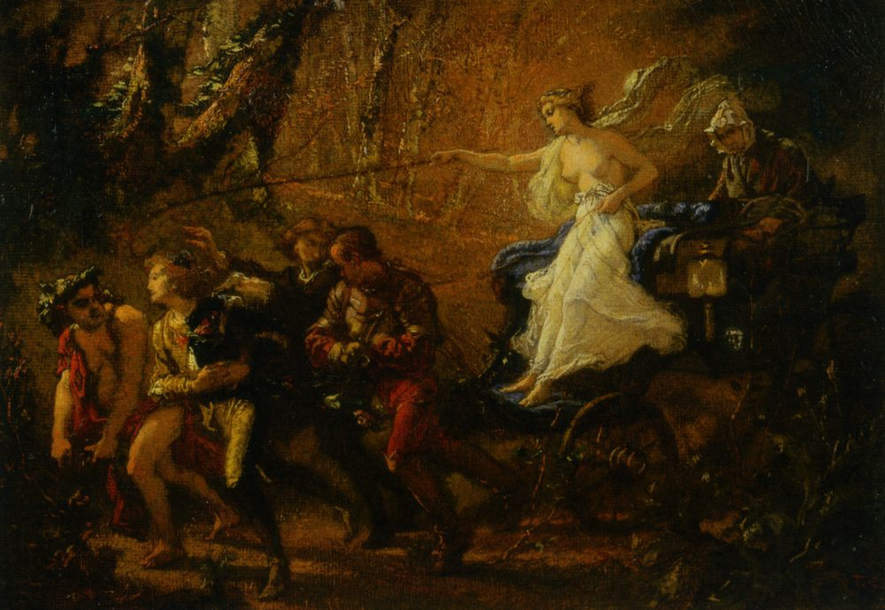 Study for The Thorny Path :: Thomas Couture - Allegory in art and painting фото