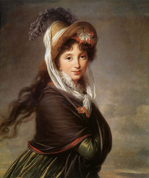 Portrait of a Young Woman :: Elisabeth Louise Vigee-Le Brun - 4 women's portraits 18th century hall фото