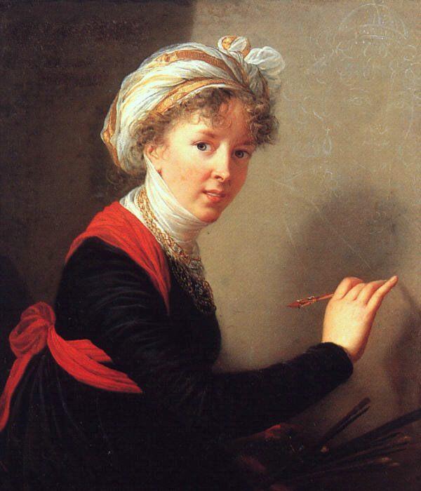 Self Portrait :: Elisabeth Louise Vigee-Le Brun - 4 women's portraits 18th century hall фото