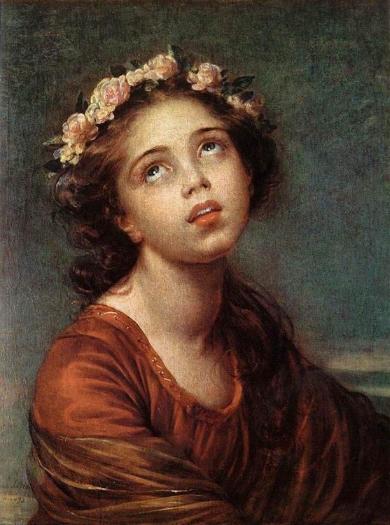 The Daughter's Portrait :: Elisabeth Louise Vigee-Le Brun - 4 women's portraits 18th century hall фото