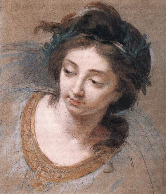 Woman's Head :: Elisabeth Louise Vigee-Le Brun - 4 women's portraits 18th century hall фото