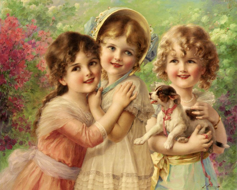 Best of Friends :: Emile Vernon - Portraits of young girls in art and painting фото