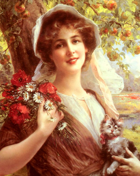 Country Summer :: Emile Vernon  - Young beauties portraits in art and painting фото