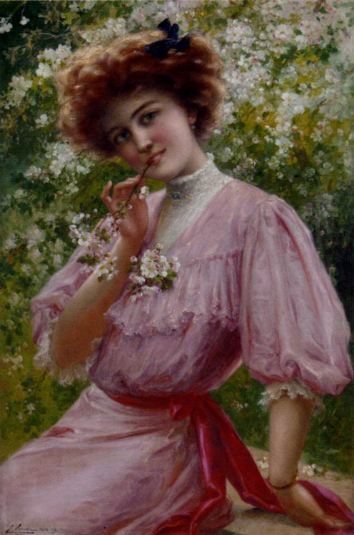 Pretty In Pink :: Emile Vernon - Young beauties portraits in art and painting ôîòî
