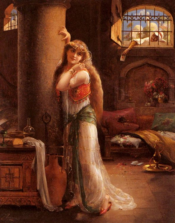 The Secret Message :: Emile Vernon - Romantic scenes in art and painting фото