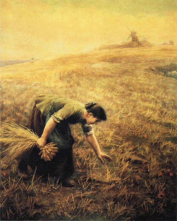 Gleaning :: Arthur Hughes - Village life фото