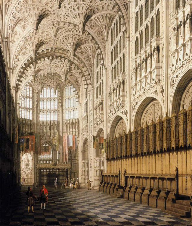 The Interior of Henry VII's Chapel in Westminster Abbey :: Canaletto  - Architecture фото