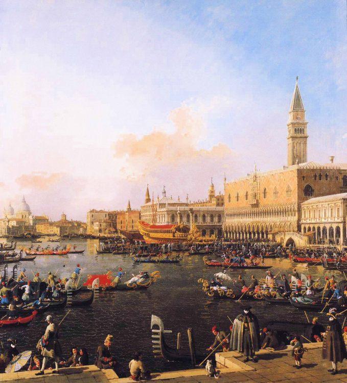 Venice, Bacino di San Marco on Ascension Day :: Canaletto  - Venice фото