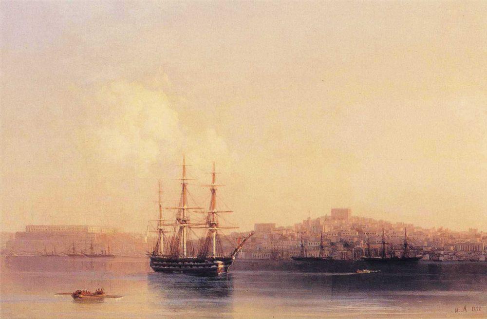 Sebastopol :: Ivan Constantinovich Aivazovsky - Seascape with ships фото