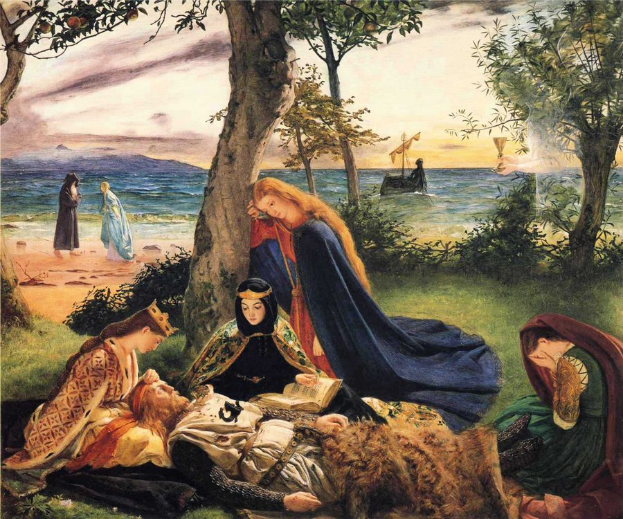 Death of Arthur :: James Archer - mythology and poetry фото