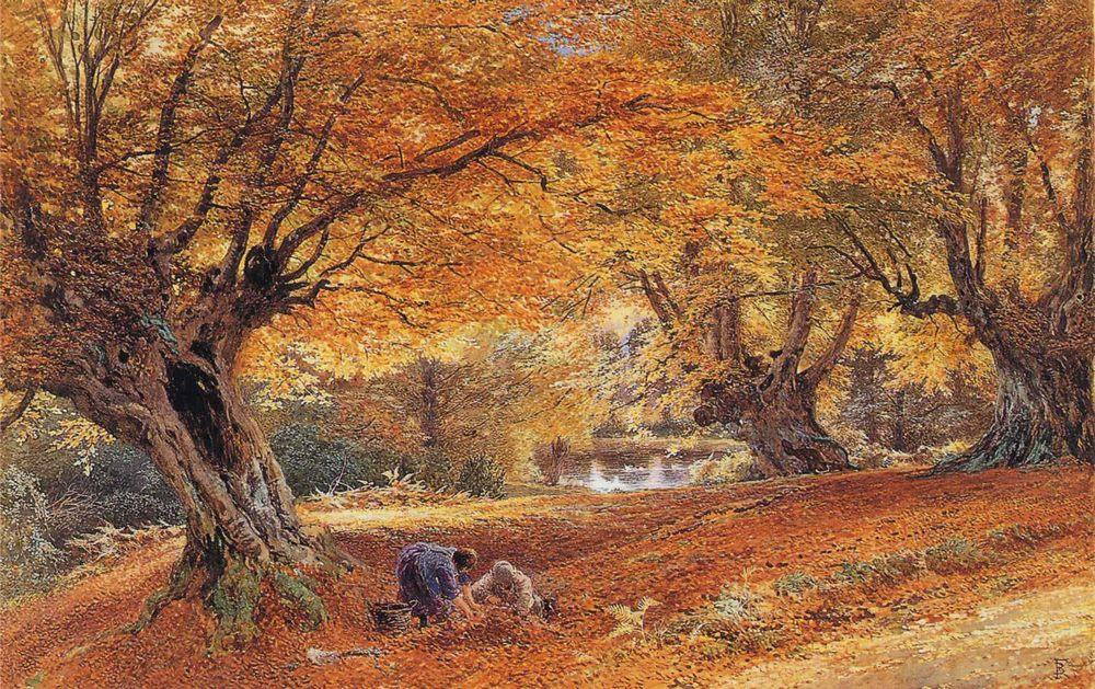 Burnham :: Myles Birket Foster, R.W.S. - Forest landscapes фото