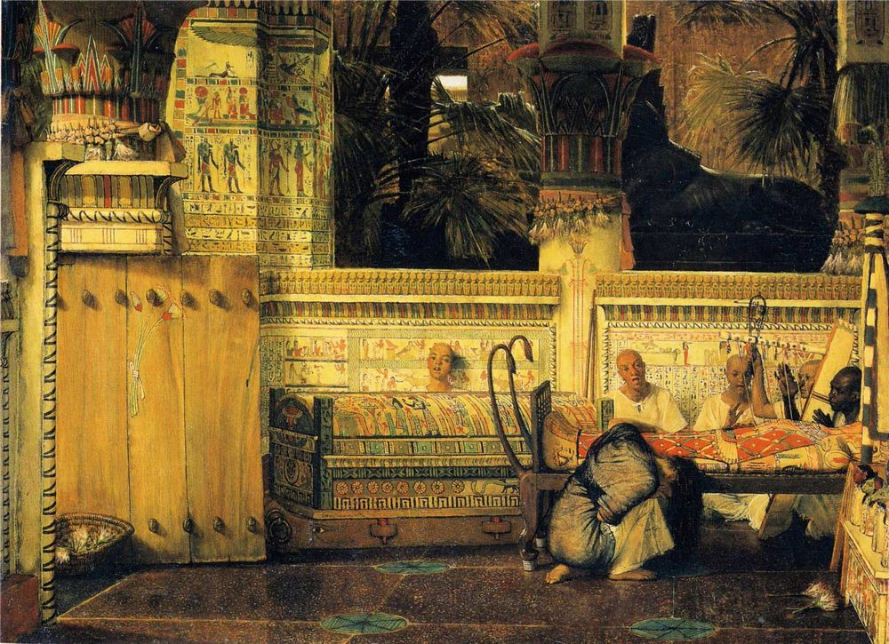 The Egyptian Widow :: Sir Lawrence Alma-Tadema - Antique world scenes ôîòî