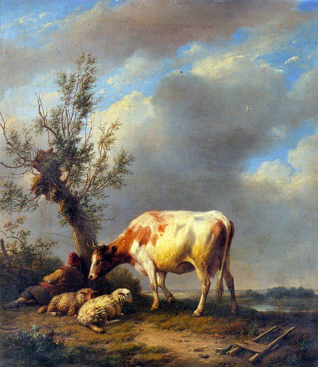 The Shepherd's Rest :: Eugene Verboeckhoven - Village life ôîòî