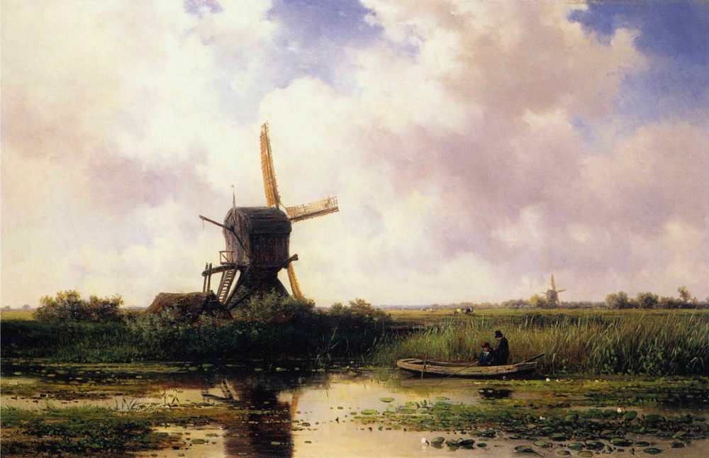 The Gein River Near Abcoude :: Willem Roelofs - Holland and Dutch ôîòî