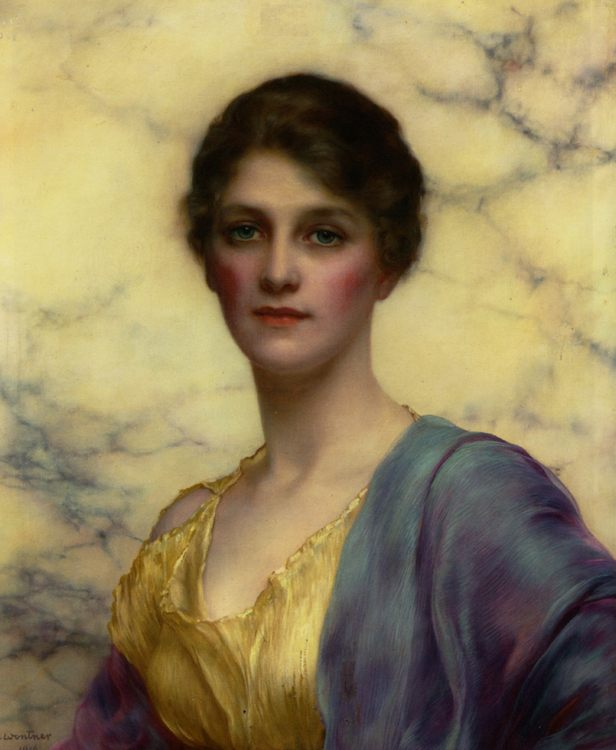 Portrait of a Beauty :: William Clarke Wontner - 8 female portraits hall фото