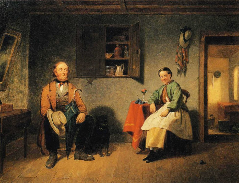 Barking Up the Wrong Tree :: Francis W. Edmonds - Romantic scenes in art and painting фото