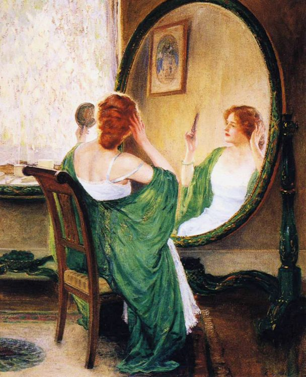 The Green Mirror :: Guy Rose - 8 female portraits hall фото