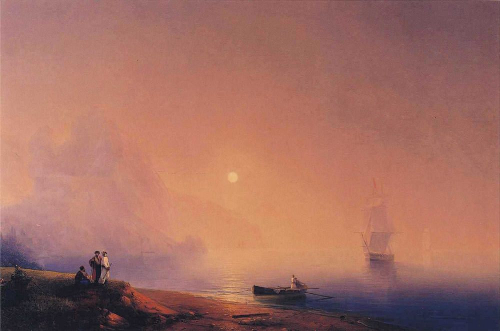 Crimean Tartars on the Sea Shore :: Ivan Constantinovich Aivazovsky - Coastal landscapes ôîòî