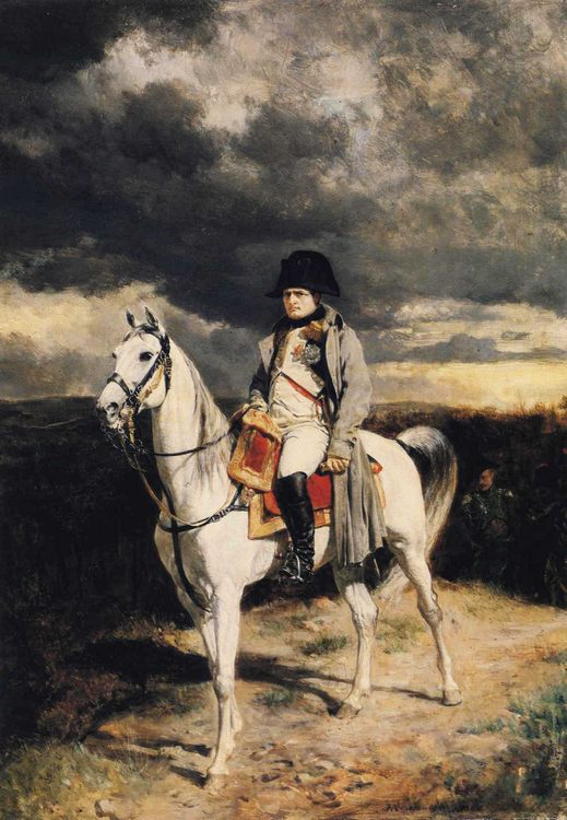 Napoleon I in 1814 :: Jean-Louis Ernest Meissonier - History painting фото