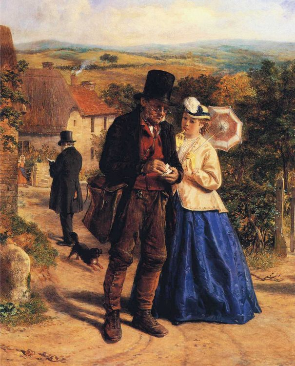 The Village Postman :: William Hemsley - Romantic scenes in art and painting фото