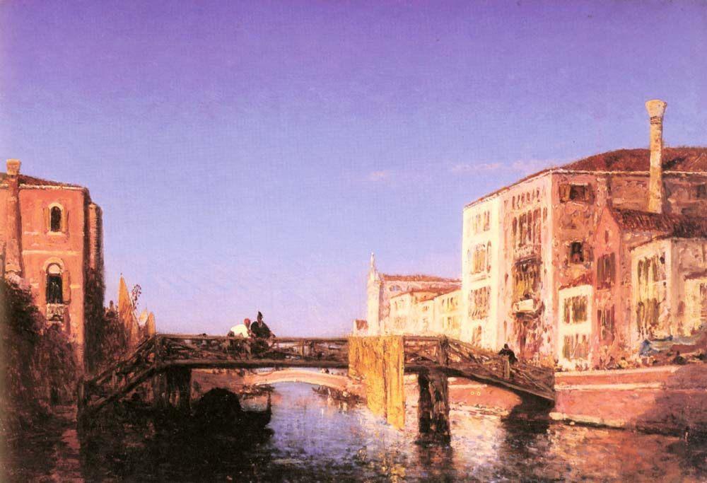 The Wooden bridgein Venice :: Felix Ziem - Venice ôîòî
