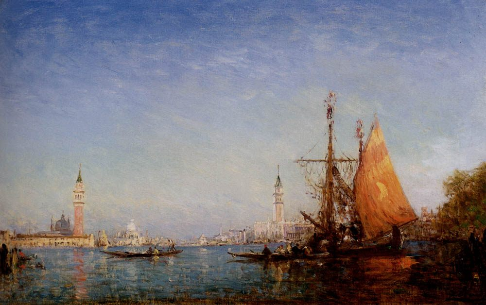 The Grand Canal, Venice :: Felix Ziem - Sea landscapes with ships фото